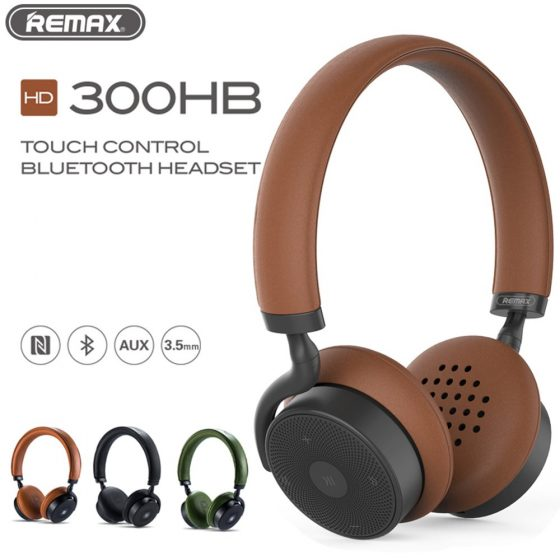 REMAX-300HB-Bluetooth-Touch-control-Headset-Leather-Ear-Pad-Remote-Headphone-Powerful-3D-Sound-Bass-with